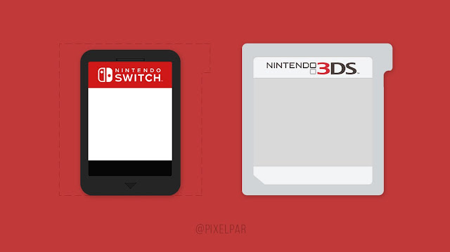 Comparación cartucho 3DS con cartucho de Switch