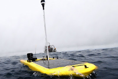 Wave glider - solar and wave powered robot
