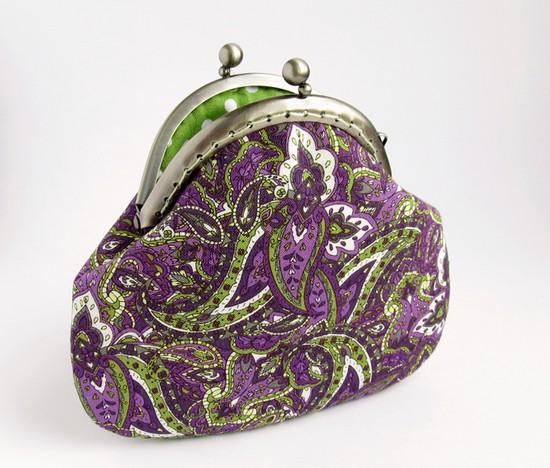 paisley purse, шитье