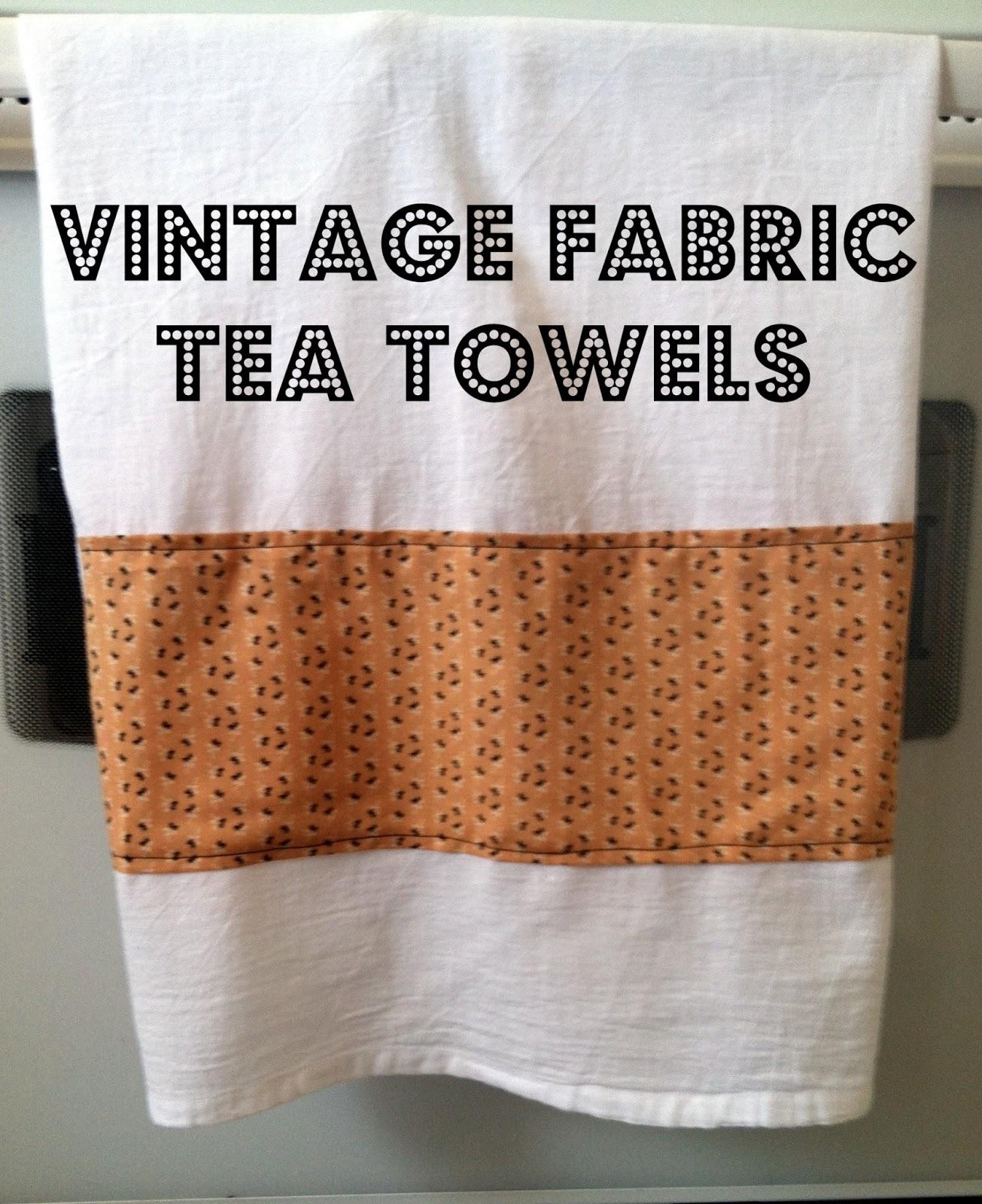 Vintage Towels: Pink Gerbera Daisies: Vintage Fabric Tea Towels