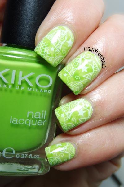 Green Christmas #nails #nailart #stamping #bornprettystore