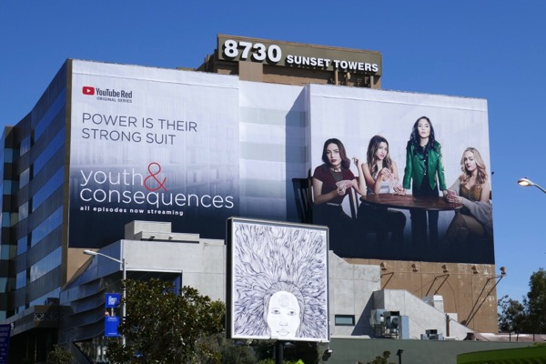 Giant Youth and Consequences YouTube Red billboard