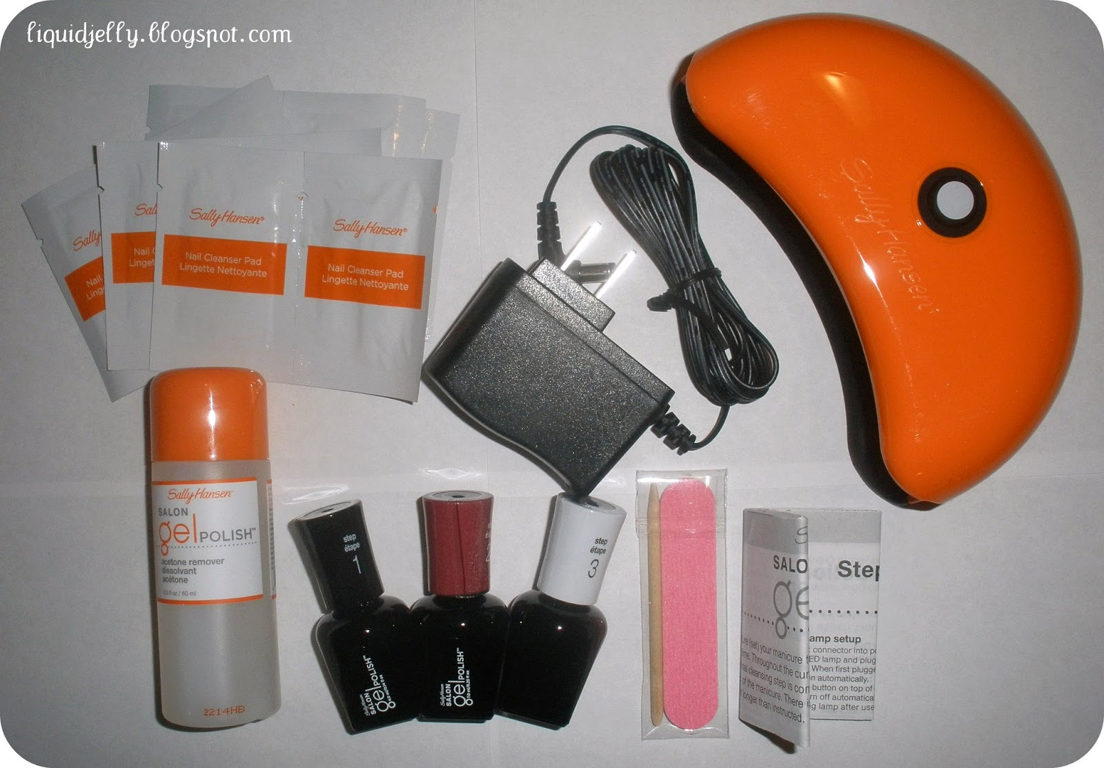 Liquid Jelly: Sally Hansen Gel Polish Starter Kit Review