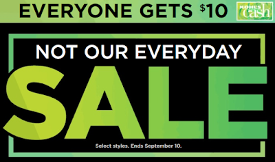 Kohls Not Our Everyday Sale 2017