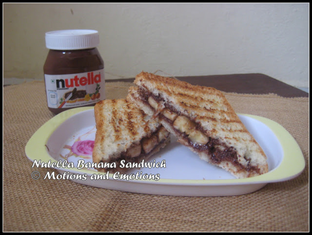 Nutella Banana Sandwich