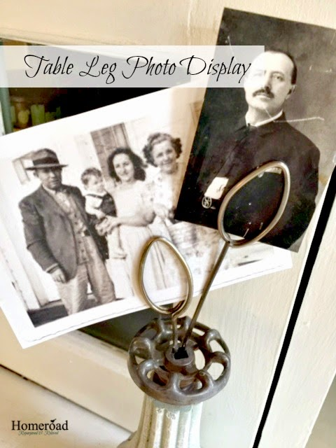 A Vintage Photo Display From a Broken Table