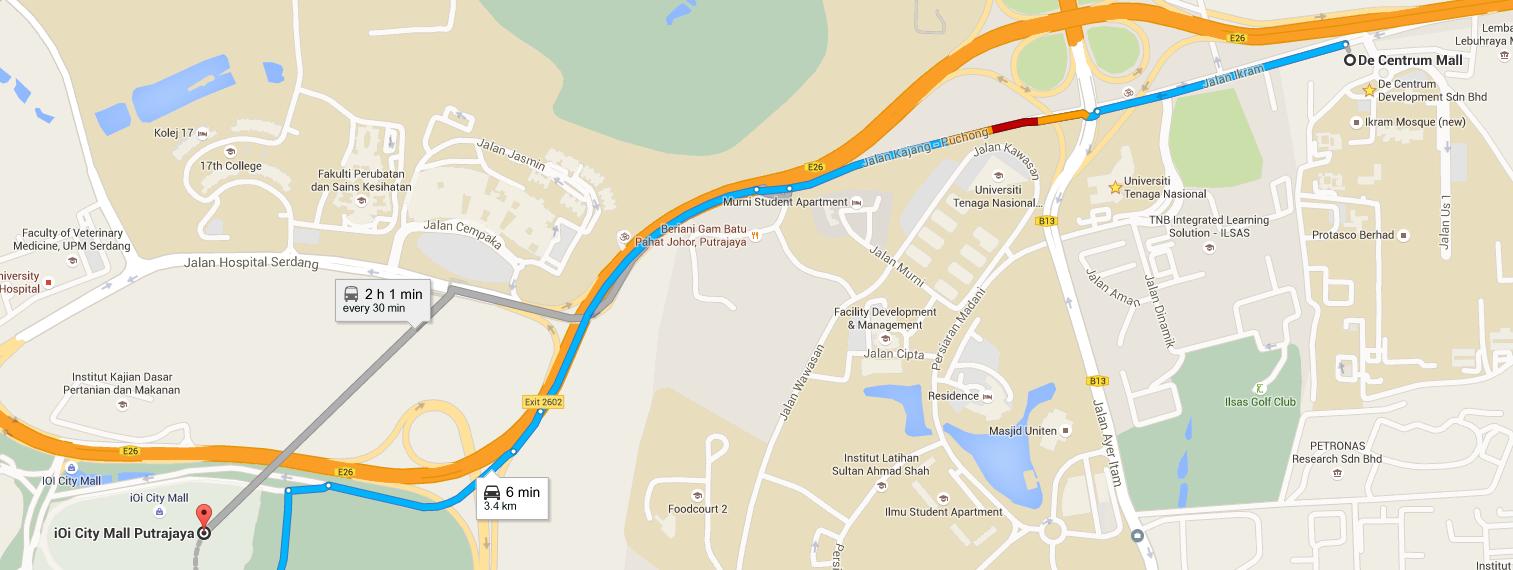 De Centrum Bangi, Kajang: Decentrum Location Map