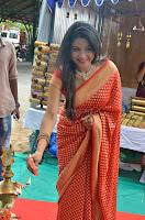 Sakshi Agarwal  in Orange Saree at Inauguration of Handloom And Handicraft exhibition ~  Exclusive 25.JPG