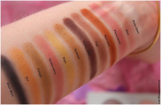 ColorsandMakeup, palettes de fards à paupières swatches Zephyr - Blog beauté