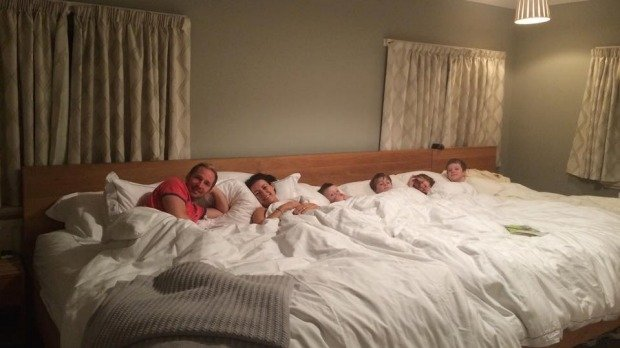 No More Intimacy, These Parents Make A Giant Bed To Sleep With Their Four Children