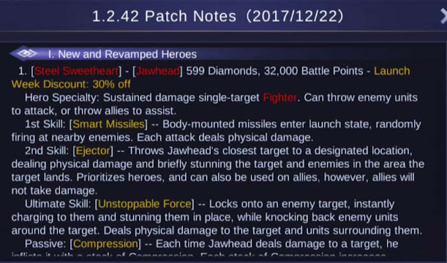 Mobile Legends Patch Notes 1.2.42