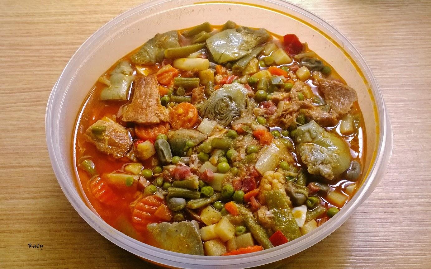 Para hincar el diente k m m k menestra de verduras con - Menestra de verduras en texturas ...