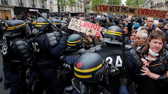 Disturbios en París tras la elección del nuevo presidente Emmanuel Macron