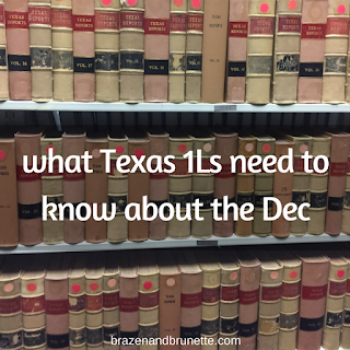 what you'll need to file the Dec as a 1L | brazenandbrunette.com