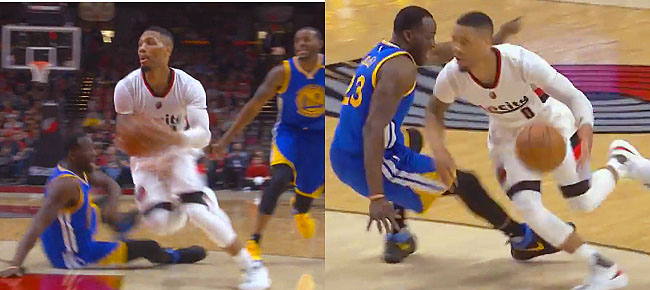 Damian Lillard's FILTHY Double Crossover Drops Draymond Green (VIDEO)