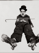 Chaplin developed his skating skills while employed by Fred Karno in the British music halls, and the film was superficially inspired by the Karno sketch Skating (which had been partly written by Sydney Chaplin). Chaplin did all of the skating himself. He was occasionally aided by wires for shots which required Charlie to appear as if he were about to fall backward or forward while on skates, causing pandemonium in the rink. His agility and grace make The Rink one of his most memorable early comedies.