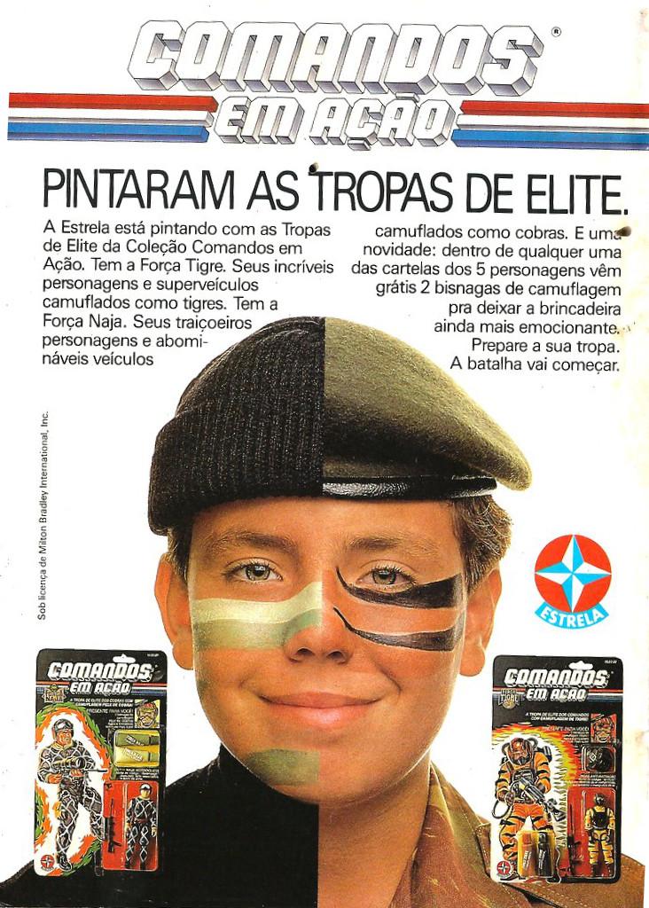 Propaganda antiga dos bonecos da série Comandos em Ação veiculada pela Estrela em 1989