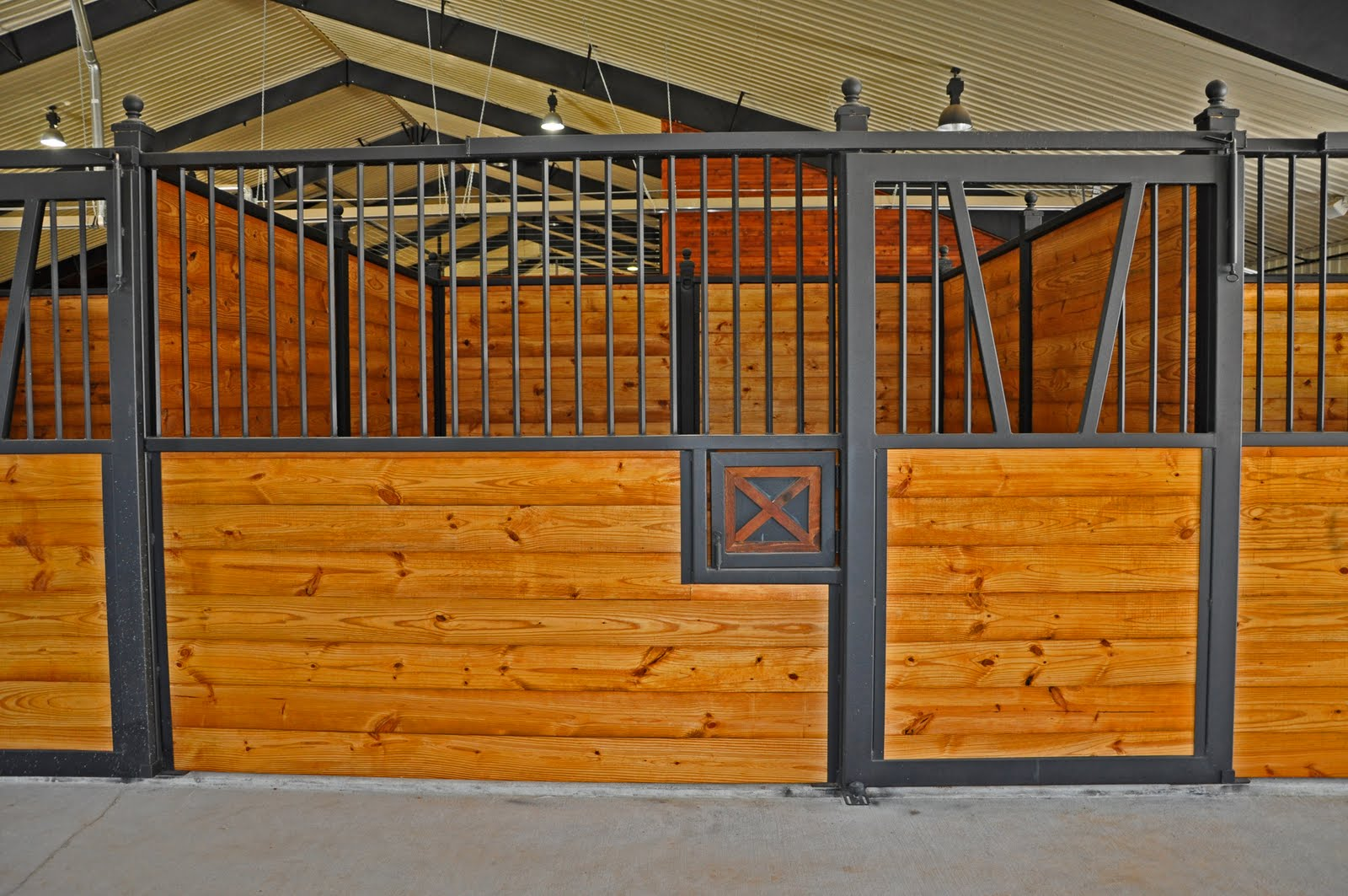 Clayton Boyd Industries Custom Horse Barn Covered Riding