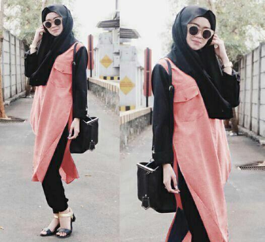 Jual Plus Jilbab / Kerudung 3 In 1 Hijab Peachy - 12944
