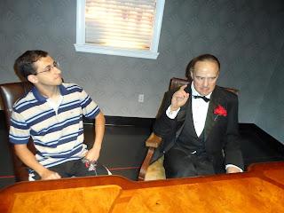 """Dom Corleone (Marlon Brando) em """"O poderoso chefão"""""""