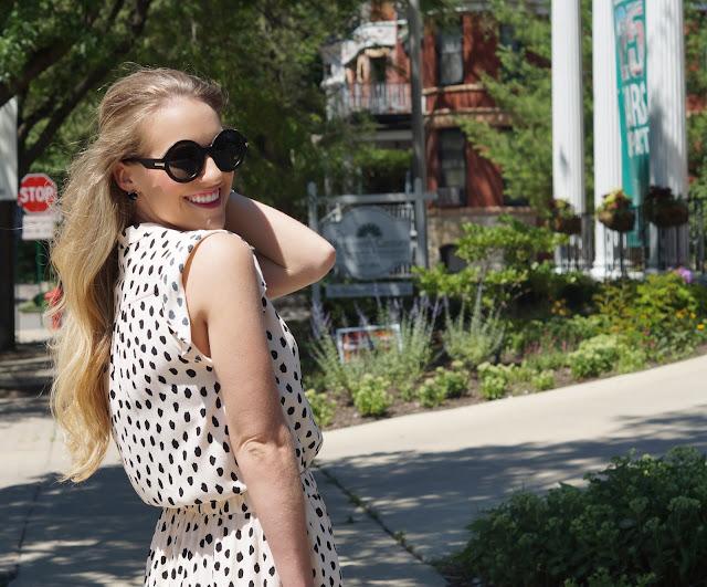 kate spade romper chicago blogger