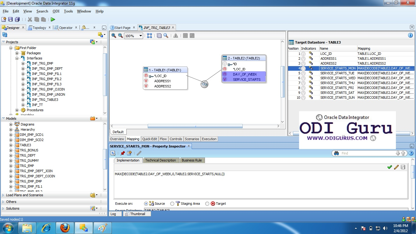 ORACLE GURUS: ODI PIVOT- ROWS TO COLUMNS