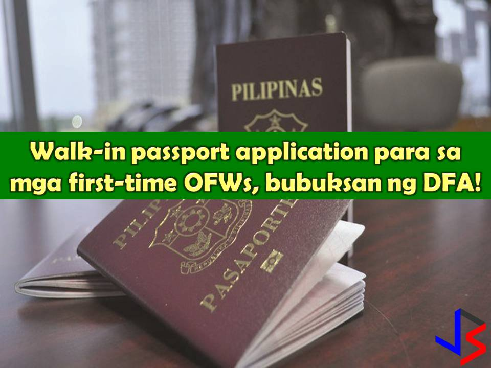 Overseas Filipino Workers (OFWs) are now enjoying courtesy lane or fast lane in renewing their passport at any Department of Foreign Affairs (DFA) offices nationwide, but those who want to work abroad for the first time, still, they need to undergo a long process.  This is another offer of DFA to soon to be OFWs to fast-track passport applications.  Under the policy, it will allow Filipinos with a job offer to easily file for application without the need of an appointment.