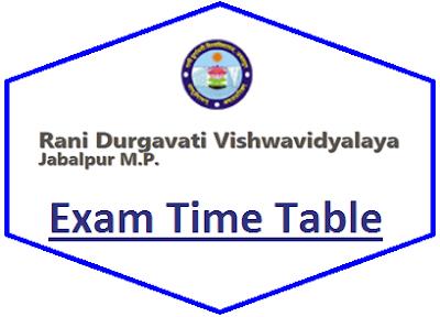 RDVV Even Sem Time Table 2021