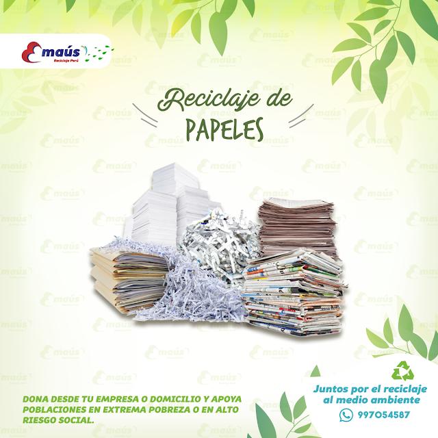 Reciclaje de Papeles - Emaús Reciclaje Perú