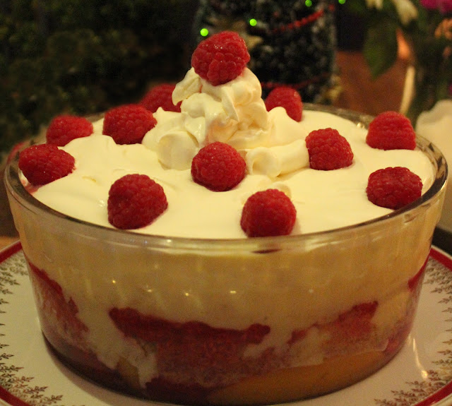 Raw organic dairy raspberry trifle recipe