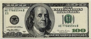 One hundred dollar bill