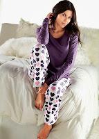 Bluza de pijama de culoare uni