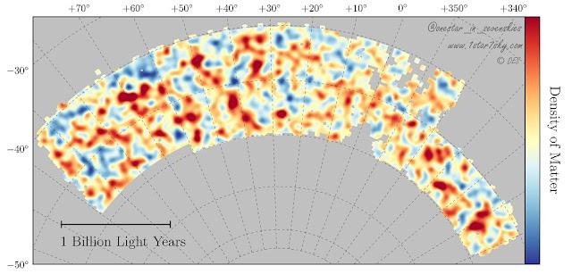 دقیقترین نقشه از پراکندگی ماده تاریک درون کیهان