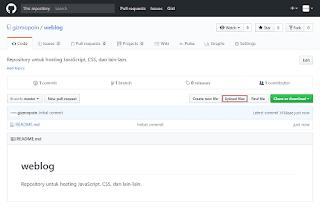 Upload files - GitHub