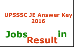 UPSSSC JE Answer Key 2016