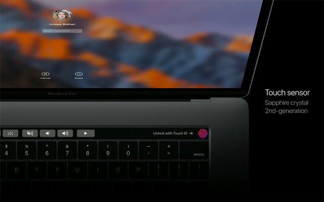 MacBook Pro Touch sensor