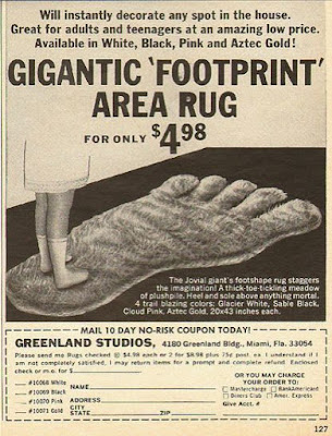 Gigantic Footprint Area Rug