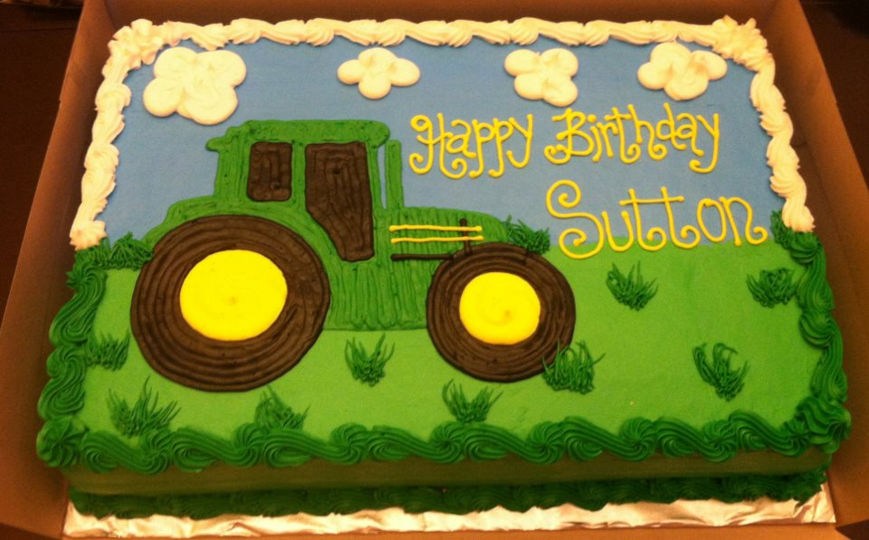Tec The Tractor Birthday Cake