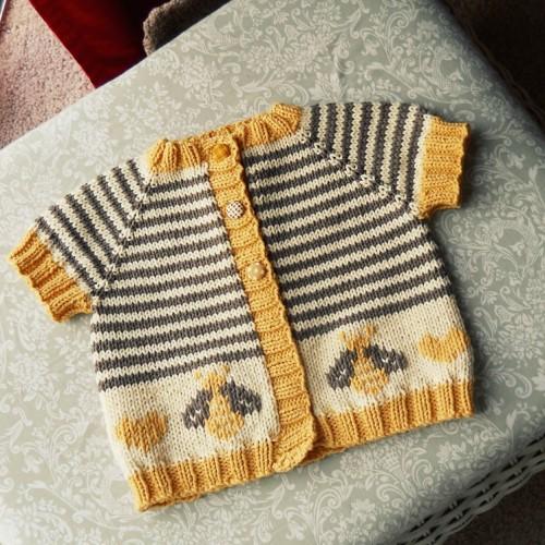 Little Bumblebee Cardi - Free Pattern