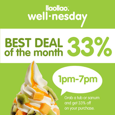 llaollao Malaysia 33% Discount Deal Offer