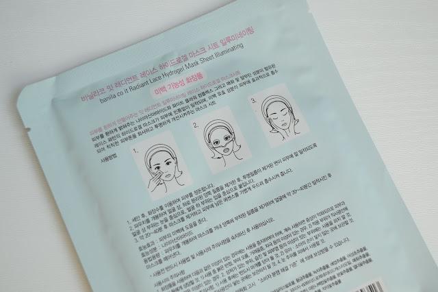 Banila Co. It Radiant Lace Hydrogel Mask Sheet Review