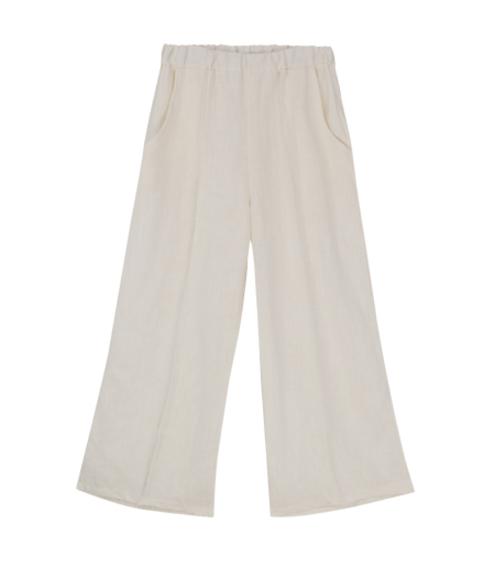 Elastic Waist Wide-Leg Pants