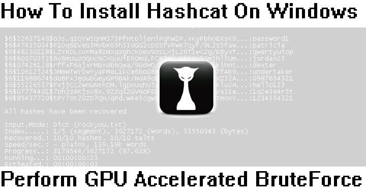 How To Install Hashcat On Windows To Perform GPU
