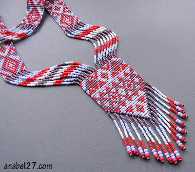 native american beadwork split loom necklace beadwoven ethnic beading blog