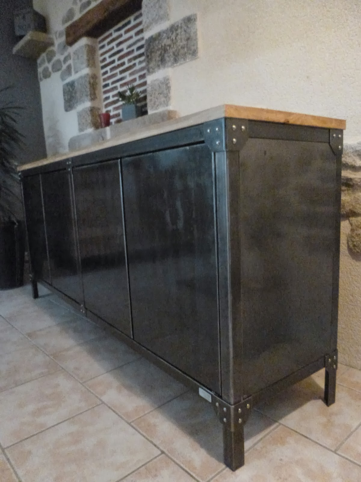 Buffet Bois Metal C Factory Creation Buffet Metal Et Bois