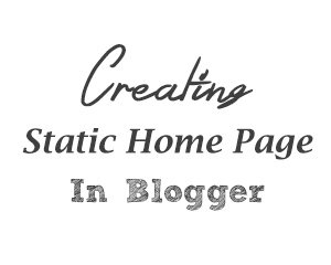 static pages in Blogger