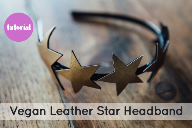 Faux Leather Star Headband