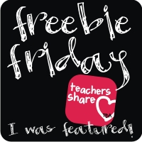 TBA's Freebie Friday Button at Fern Smith's Classroom Ideas!
