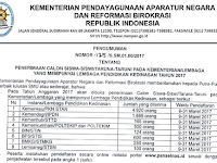 Penerimaan Pendaftaran Siswa/Taruna Lembaga Pendidikan Kedinasan 2017