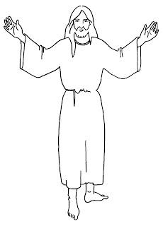 silhouette de Jésus